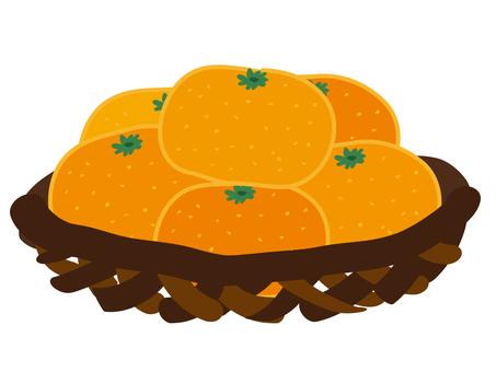 Mandarin caught in the basket