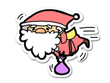 Flying Santa (seal style)