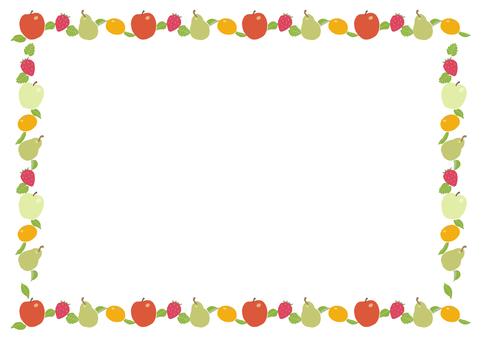 프레임 겨울 과일