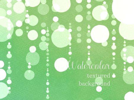 물방울과 비 수채화 프레임 04 / 녹색