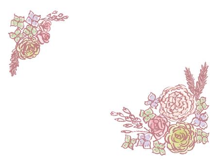 古色古香的花框架