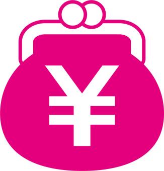 Gamaguchi _ yen mark _ pink