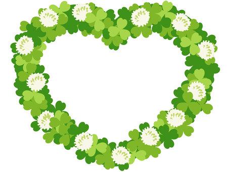 White clover white clover heart frame