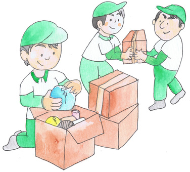 Packing and transporting work for moving companies