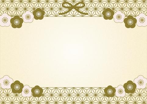 Japanese plum frame (gold)
