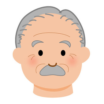 부드러운 표정의 할아버지