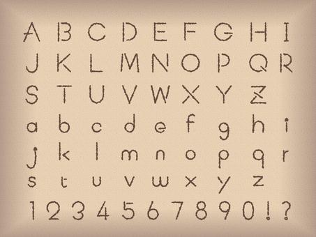 アルファベット数字 手書き風
