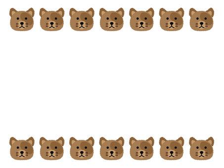 강아지 얼굴 프레임 / 테두리