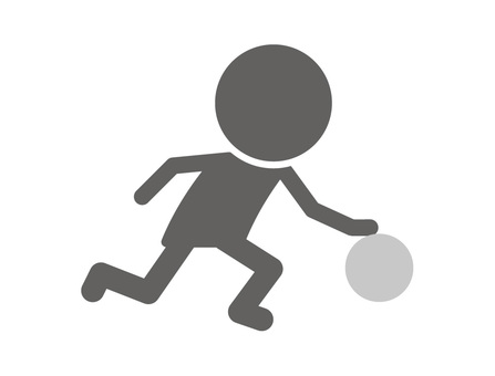 Stickman pictogram _ dribble