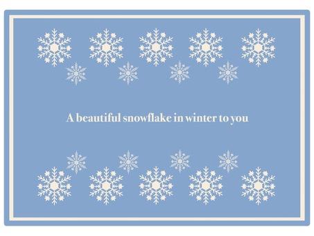 Frame Snow crystal ①