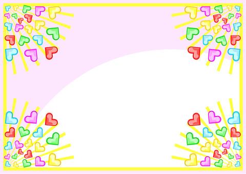 Pop-out heart frame frame