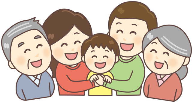 Family 5 people collection (upper body)