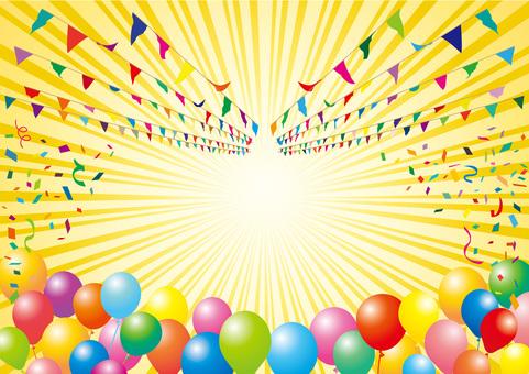 Decoración del globo del confeti del globo del día de los deportes de la bandera de Garland