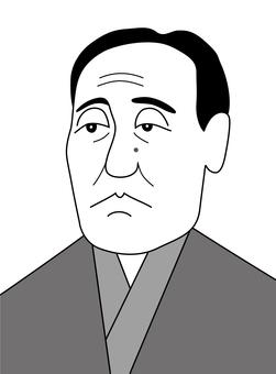 Fukuzawa Yukichi (black and white)