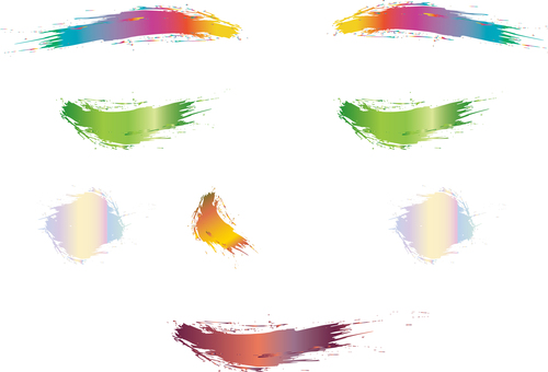 Free illustration free material face calm face expression eyes