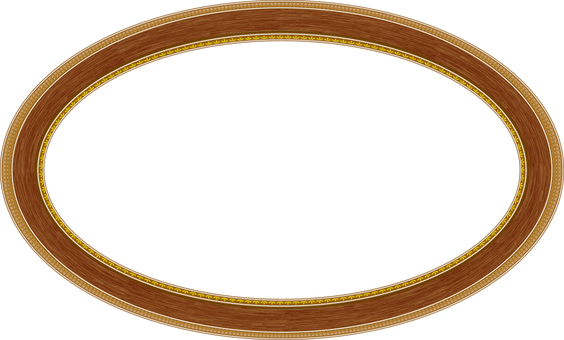 Rounded frame wooden
