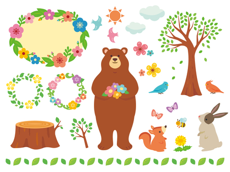 Spring Nature and Animal Illustrations