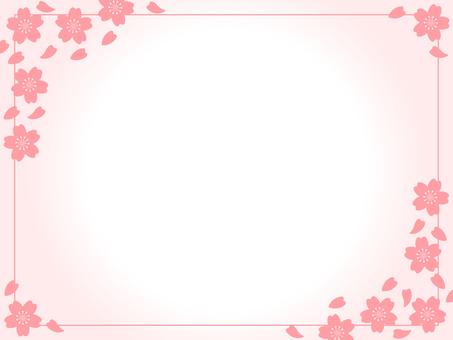 Cherry blossom gradation frame line included