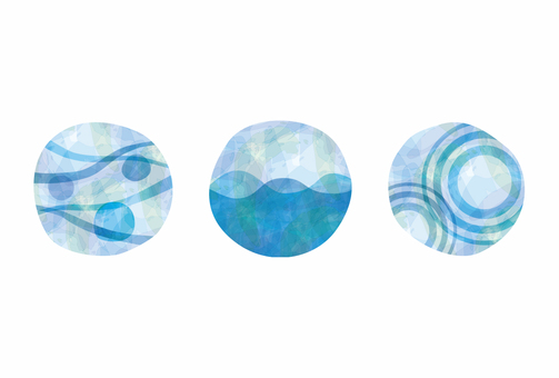 Three images of water