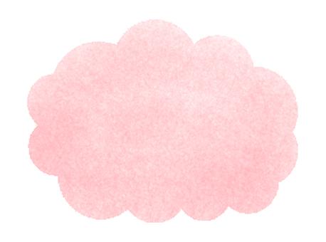 구름의 프레임 (핑크)