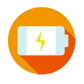 Flat icon - Battery (charging)