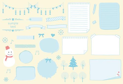 Winter frame material (PNG transparent background)