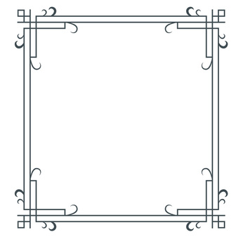 Decorative ruled frame frame