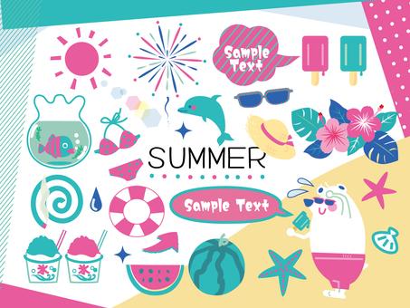 Summer ☆ Pink & Blue