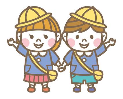 Kindergarten Boy & Girl