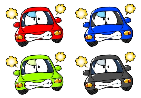 Angry car character