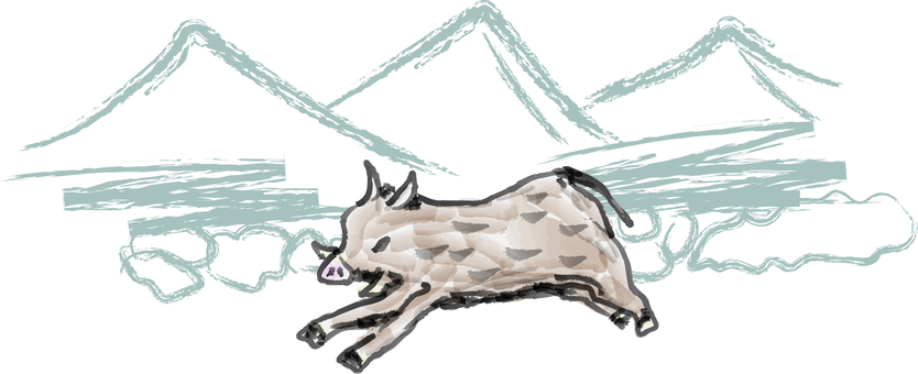 Boar wild boar logs