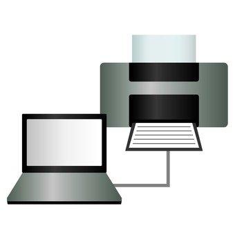 筆記本電腦和打印機
