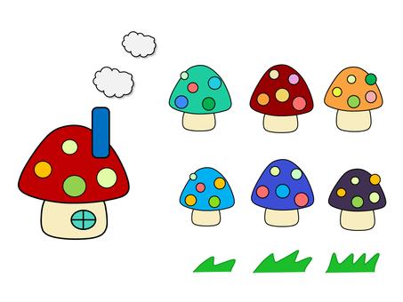 Material _ Mushrooms _ House