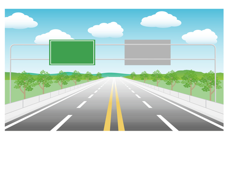 4-lane road