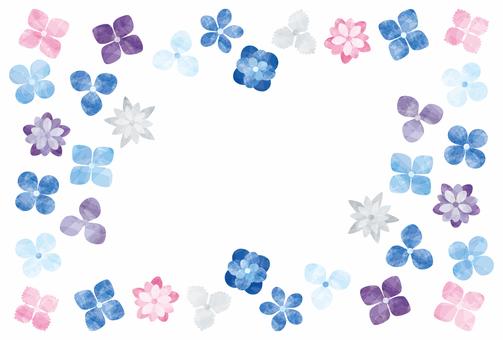 紫陽花/いろいろフレーム