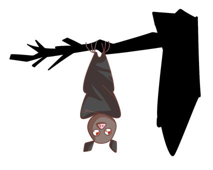 Upside-down bat