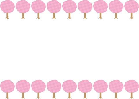 벚꽃 나무 프레임