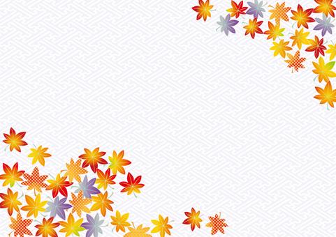 Kyo Kanoko Autumn leaves _ sairei pattern