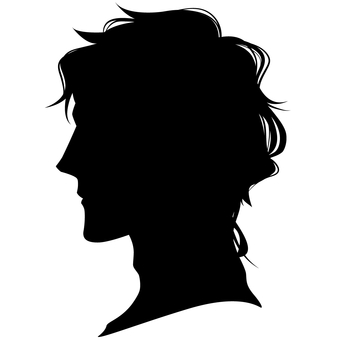 Male hairstyle Side profile silhouette 02