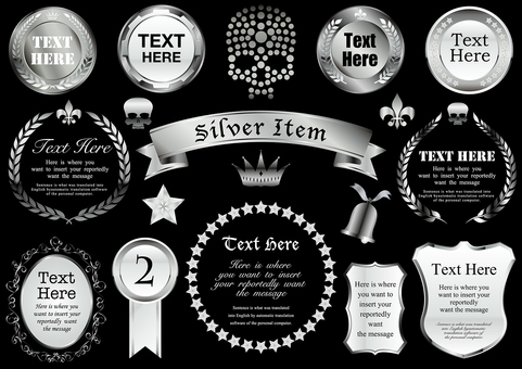 Silver item