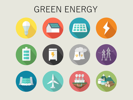 Illustration of green energy