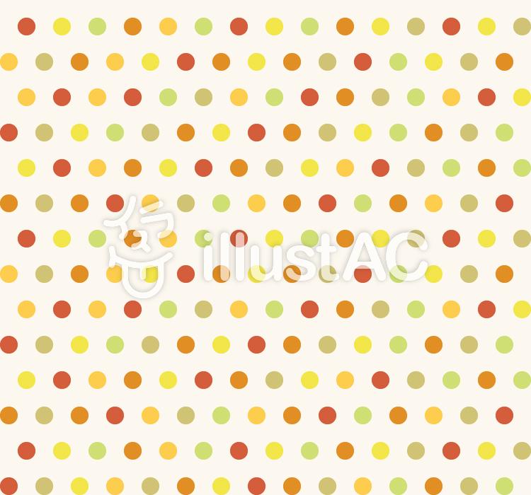 カラフルパターン - 丸M(秋色)のイラスト