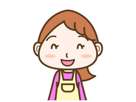 Female expression smile