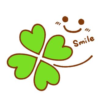 四片葉子和微笑標記
