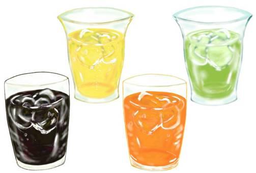 음료 4 종 음료 바
