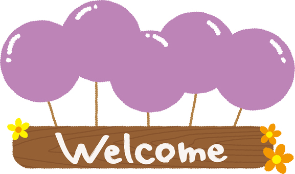 Welcome board 01