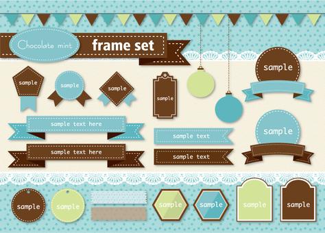 Frame like chocolate mint