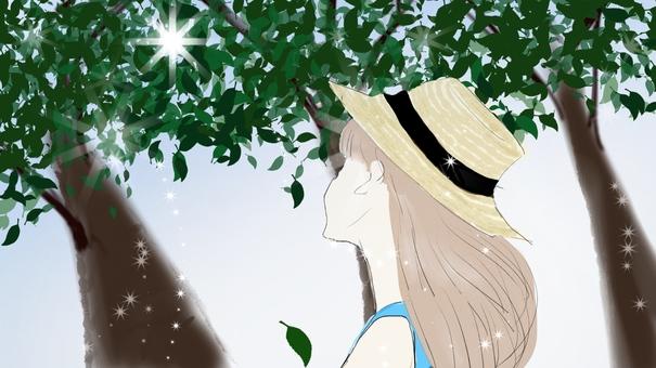 햇살과 소녀