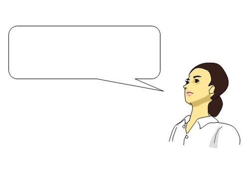 Woman talk · · speech bubble