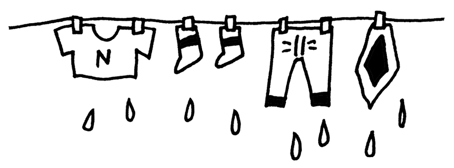 Laundry (black and white)